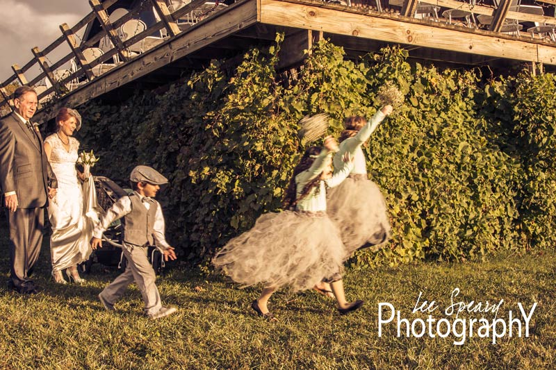 Running flower girls – Photo credit Lee Speary Photography